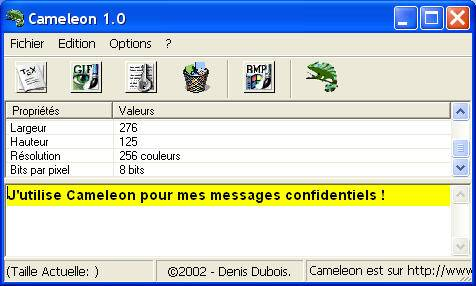 Capture d'écran Cameleon