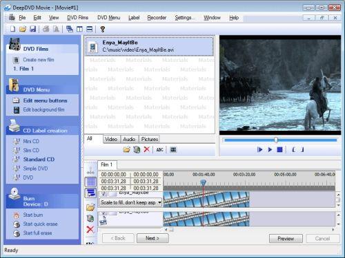 Capture d'écran DeepDVD Movie