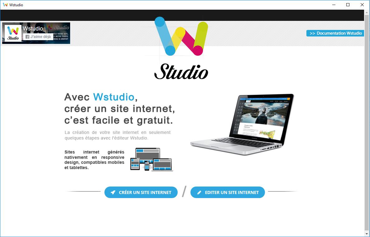 Capture d'écran Wstudio