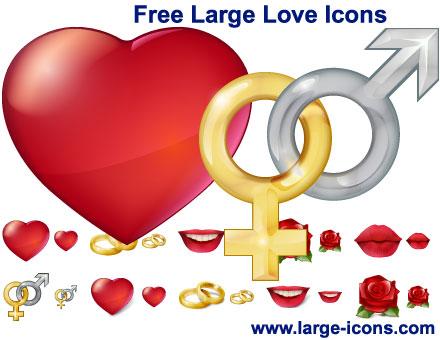 Capture d'écran Free Large Love Icons