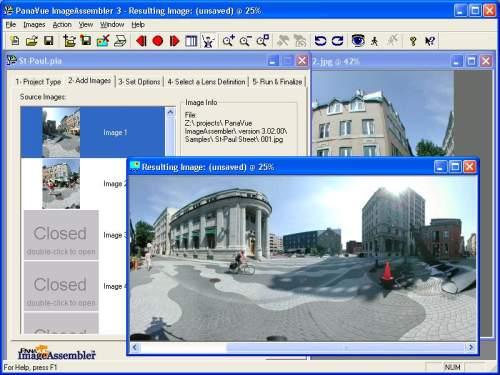 Capture d'écran PanaVue ImageAssembler
