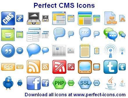 Capture d'écran Perfect CMS Icons