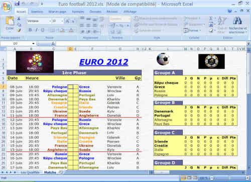 Capture d'écran EURO FOOTBALL 2012