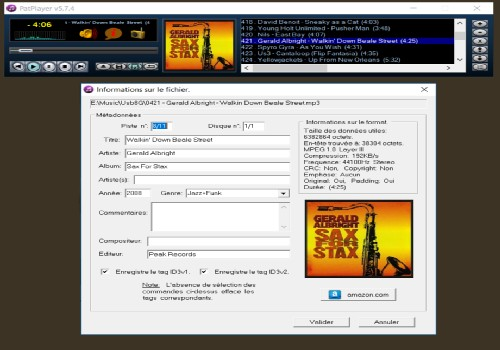 Capture d'écran PatPlayer v5.7.4