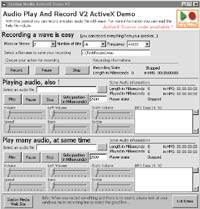 Capture d'écran Audio Play And Record OCX
