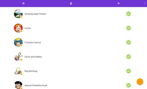 Capture d'écran Webcomics Reader – Splash8