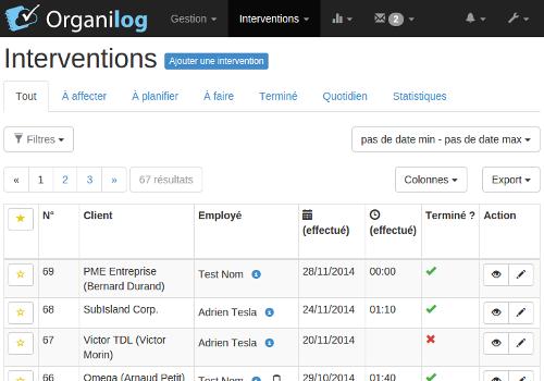Capture d'écran Organilog