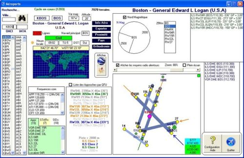 Capture d'écran Aéroports