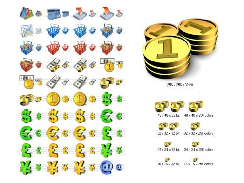 Capture d'écran Financial Icon Library