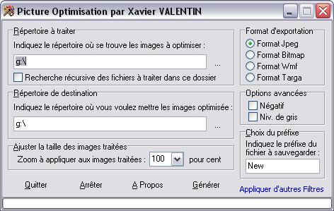 Capture d'écran Picture Optimisation