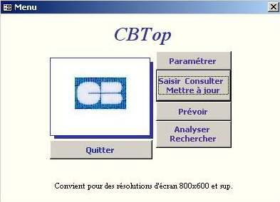 Capture d'écran CBTop