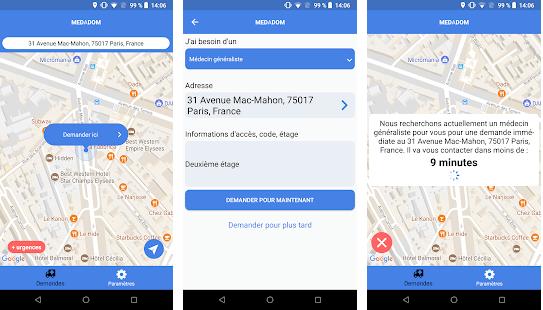 Capture d'écran Medadom Android