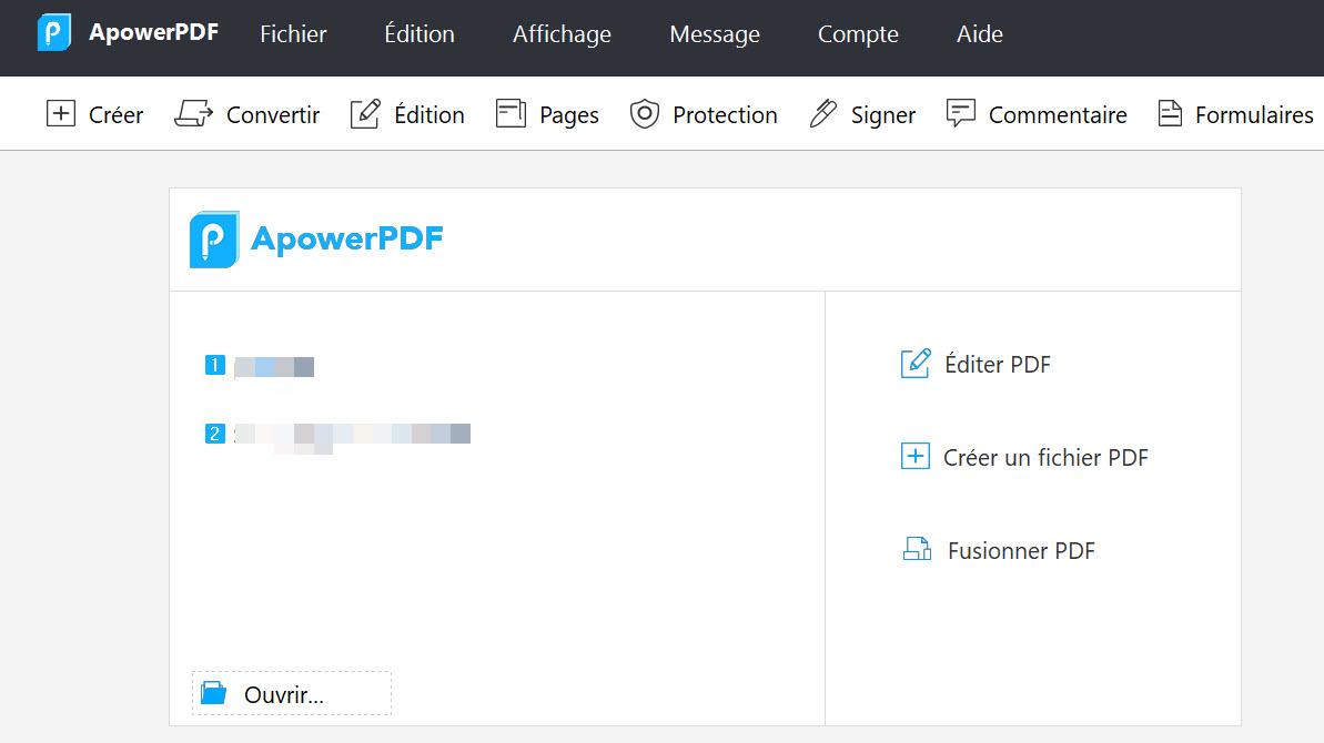 Capture d'écran ApowerPDF  – éditeur PDF puissant sur Windows