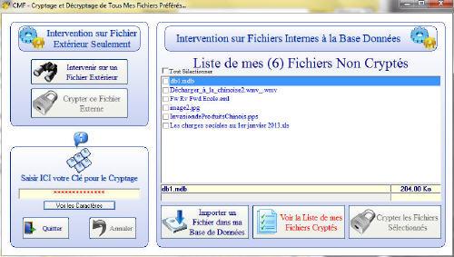 Capture d'écran CrypterMesFichiers 1.0.0.0 2013