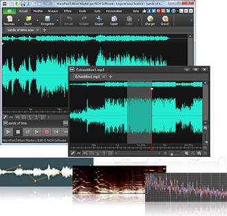 Capture d'écran WavePad – Éditeur audio pour Windows