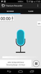Capture d'écran Enregistreur de voix en titane