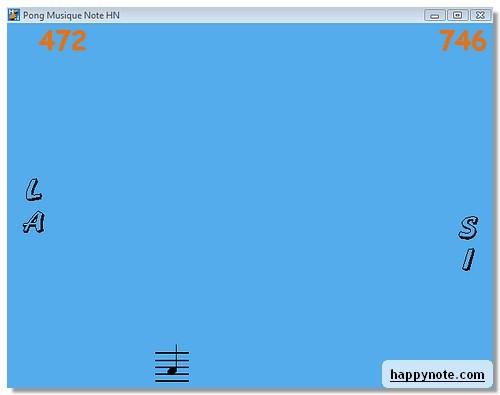 Capture d'écran Pong Musique Note HN