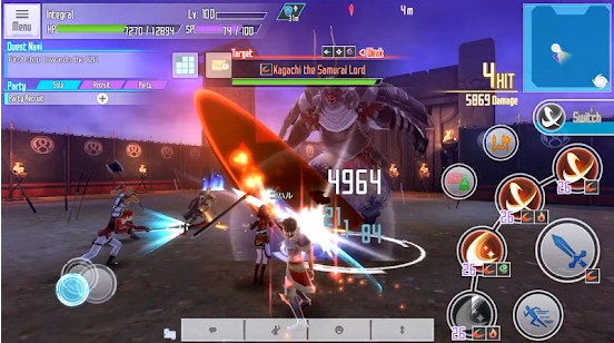 Capture d'écran Sword Art Online : Integral Factor IOS