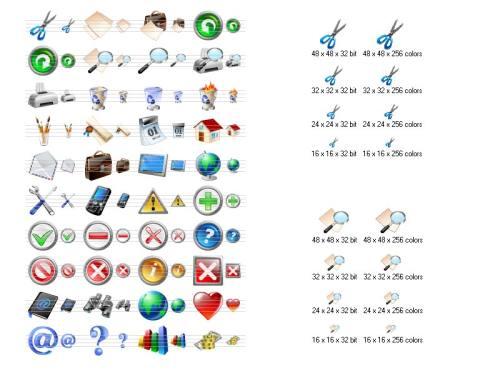 Capture d'écran Vista Toolbar Icons