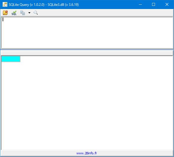 Capture d'écran SQLite Query