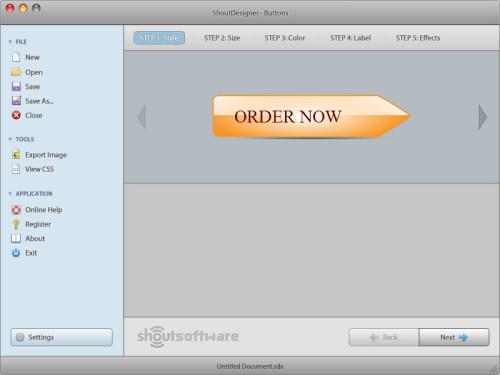 Capture d'écran ShoutDesigner Button Creator