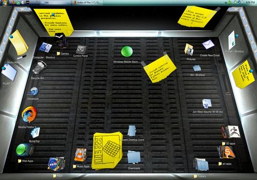 Capture d'écran BumpTop