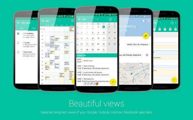 Capture d'écran Wave Calendrier iOS