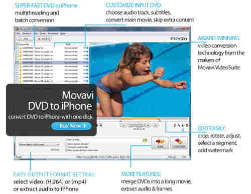 Capture d'écran Movavi DVD to iPhone
