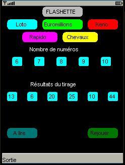 Capture d'écran Flashette