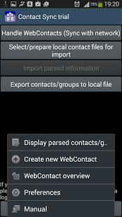 Capture d'écran ContactSync d'évaluation