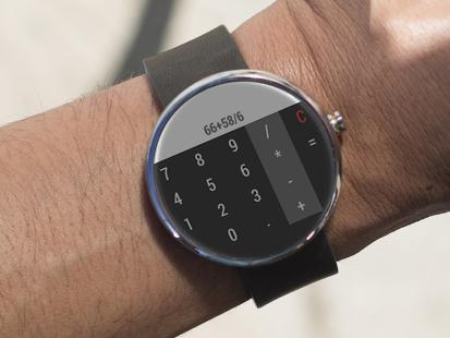Capture d'écran Calculette Pour Android Wear