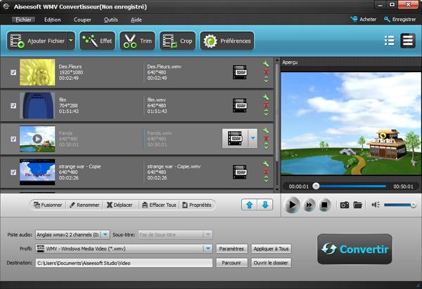 Capture d'écran Aiseesoft WMV Convertisseur