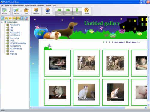 Capture d'écran Web Photo Album