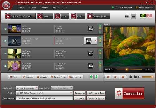Capture d'écran 4Videosoft MKV Vidéo Convertisseur