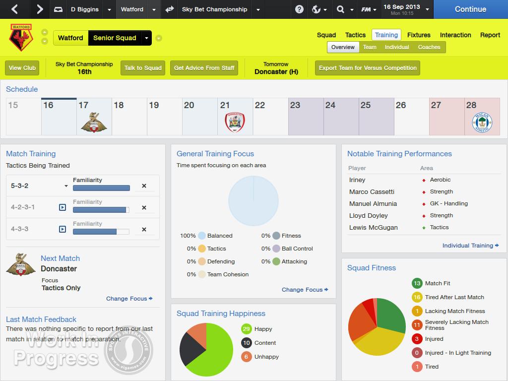 Capture d'écran Football Manager 2014 Mac