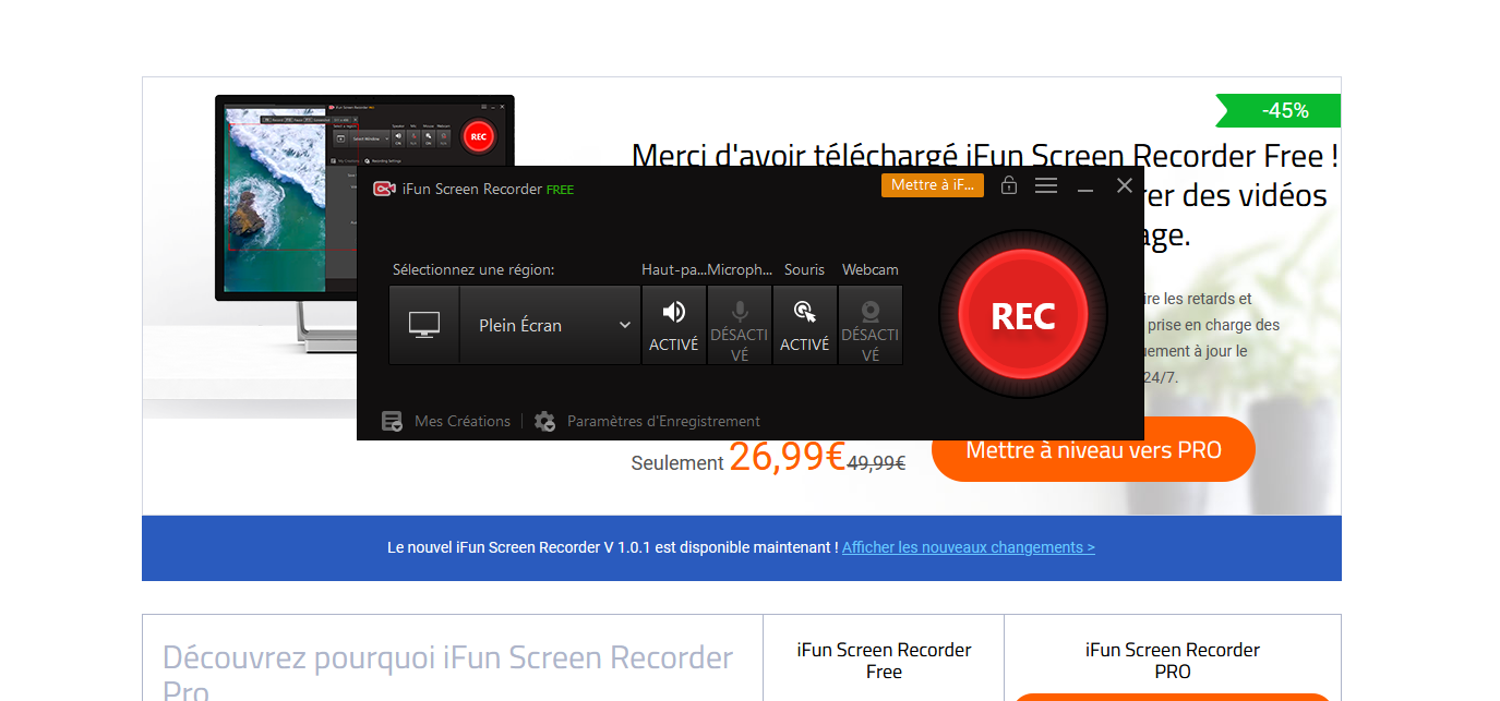Capture d'écran iFun Screen Recorder