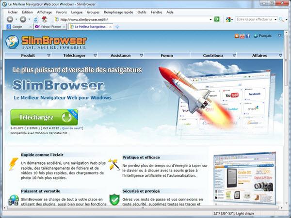 Capture d'écran SlimBrowser