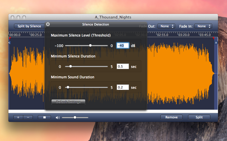 Capture d'écran AppleMacSoft MP3 Splitter for Mac v3.9.1