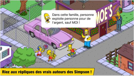 Capture d'écran Les Simpson Springfield iOS
