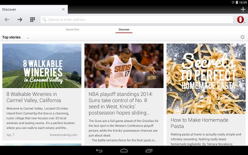 Capture d'écran Navigateur Opera pour Android