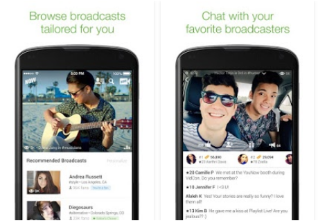 Capture d'écran YouNow iOS