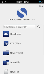 Capture d'écran Spark – HTML Editor/ FTP