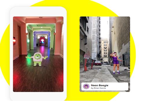 Capture d'écran Snapchat Lens Studio