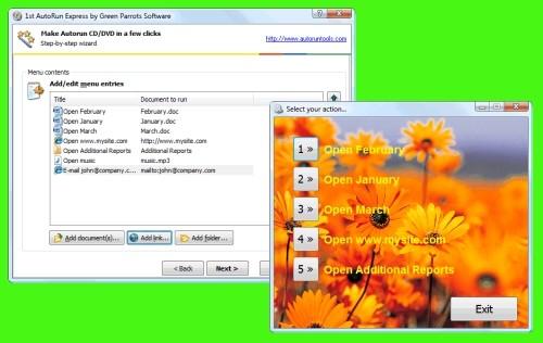 Capture d'écran 1st AutoRun Express