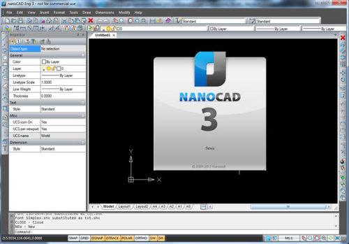 Capture d'écran nanoCAD