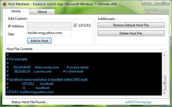 Capture d'écran Host Mechanic