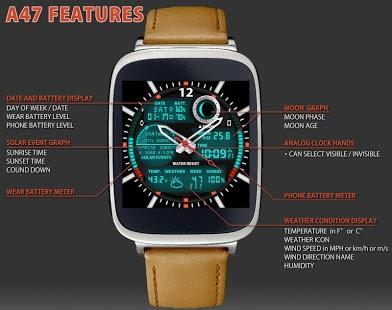 Capture d'écran A47 WatchFace for Android Wear