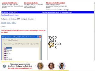 Capture d'écran Guide Divx /Vcd / Rv9/ Phot Vcd