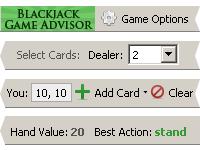 Capture d'écran Blackjack Game Advisor