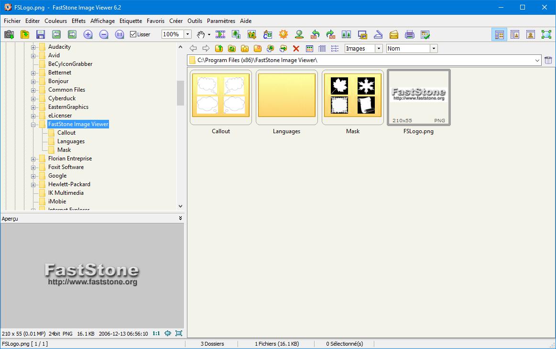 Capture d'écran FastStone Image Viewer